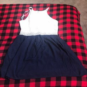 Dresses & Skirts - Navy and White Dress
